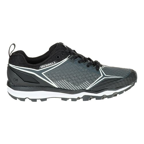 Womens Merrell All Out Crush Shield Trail Running Shoe - Black/Granite 10
