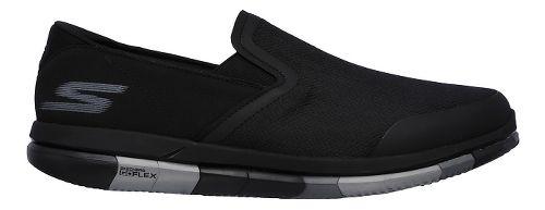 Mens Skechers GO Flex Casual Shoe - Black/Grey 11.5