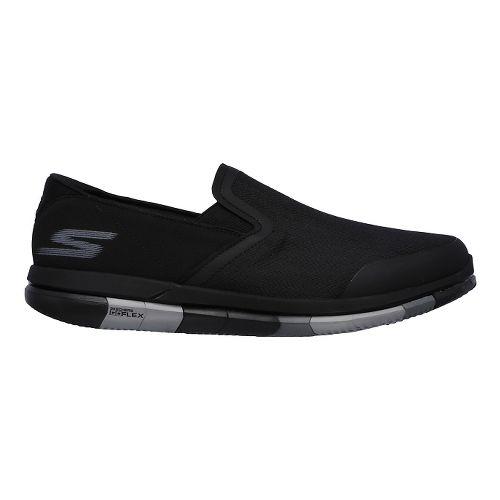Mens Skechers GO Flex Casual Shoe - Black/Grey 10