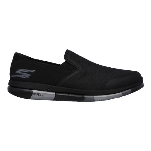 Mens Skechers GO Flex Casual Shoe - Black/Grey 10.5