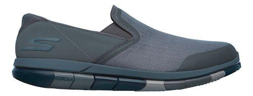 Mens Skechers GO Flex Casual Shoe - Charcoal/Navy 8