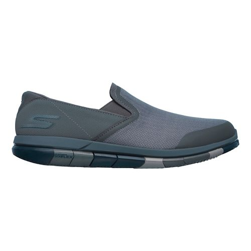 Mens Skechers GO Flex Casual Shoe - Charcoal/Navy 12.5