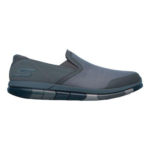 Mens Skechers GO Flex Casual Shoe - Charcoal/Navy 13