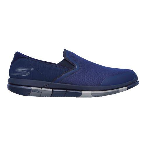 Mens Skechers GO Flex Casual Shoe - Navy/Grey 13