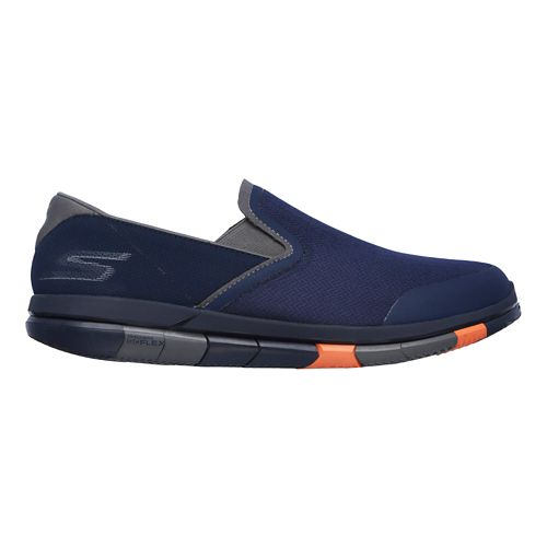 Mens Skechers GO Flex Casual Shoe - Navy/Orange 10.5