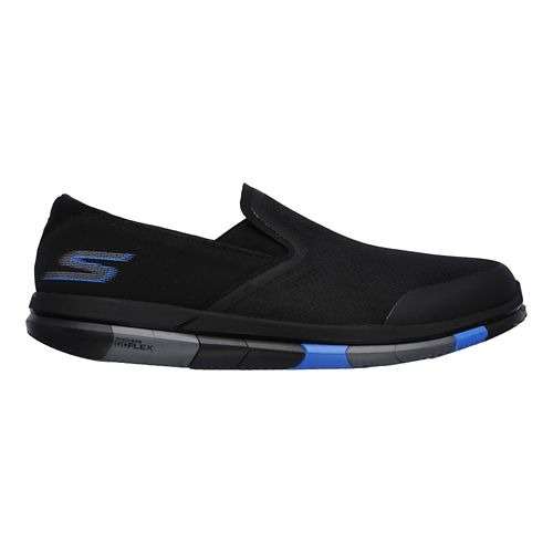Mens Skechers GO Flex Casual Shoe - Black/Blue 7.5
