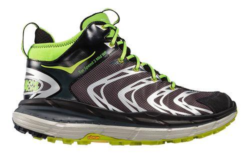 Mens Hoka One One Tor Speed 2 Mid WP Hiking Shoe - Black/Green 7.5