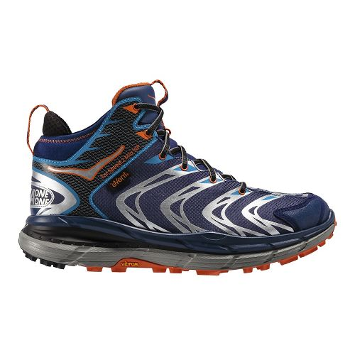 Mens Hoka One One Tor Speed 2 Mid WP Hiking Shoe - Blue/Red Orange 12.5 ...