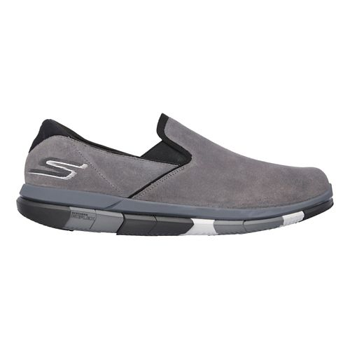 Mens Skechers GO Flex Casual Shoe - Charcoal/Black 10.5