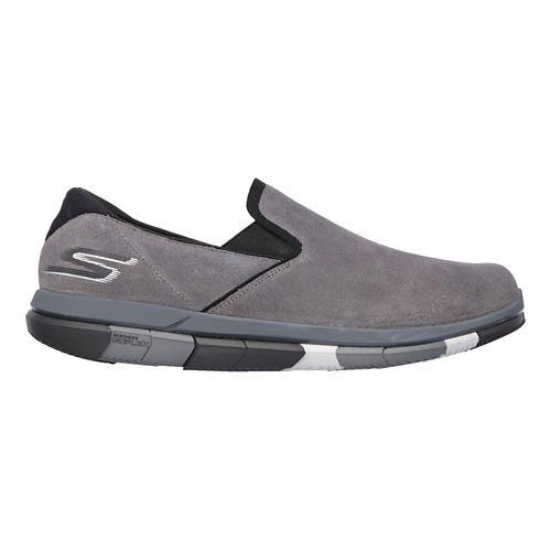 Mens Skechers GO Flex Casual Shoe - Charcoal/Black 13