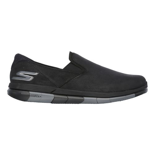 Mens Skechers GO Flex Casual Shoe - Black/Grey 8.5