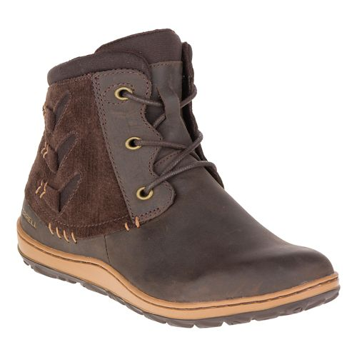 Womens Merrell Ashland Vee Ankle Casual Shoe - Seal Brown 5