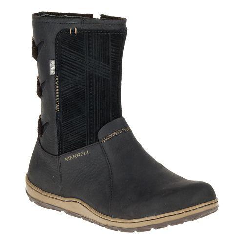 Womens Merrell Ashland Vee Mid Waterproof Casual Shoe - Black 10.5