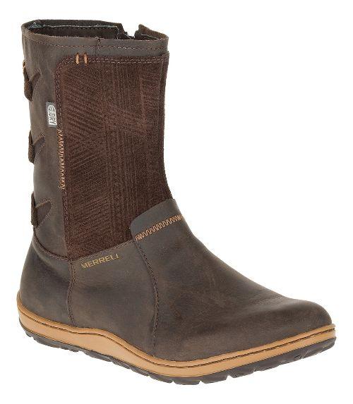 Womens Merrell Ashland Vee Mid Waterproof Casual Shoe - Seal Brown 6.5