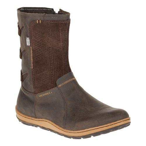Womens Merrell Ashland Vee Mid Waterproof Casual Shoe - Seal Brown 8.5