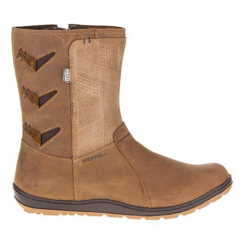 Womens Merrell Ashland Vee Mid Waterproof Casual Shoe - Merrell Tan 6