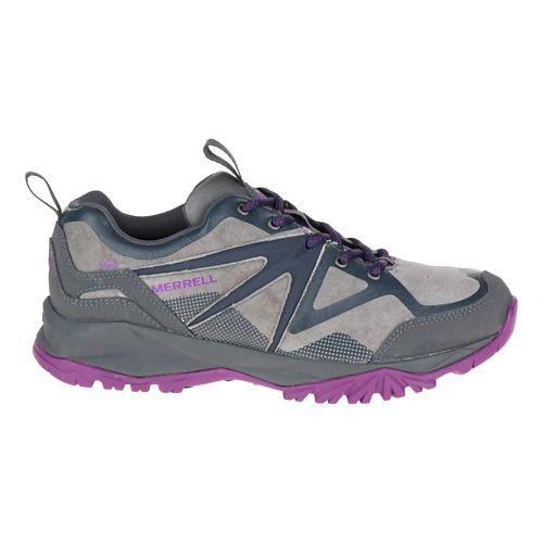 Womens Merrell Capra Bolt Leather Waterproof Hiking Shoe - Grey/Purple 9.5