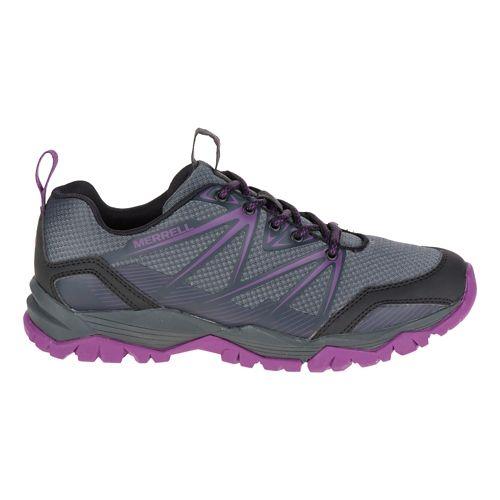 Womens Merrell Capra Rise Hiking Shoe - Grey/Purple 7.5