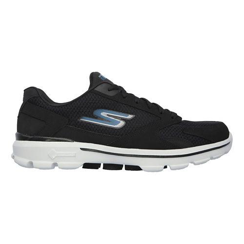 Mens Skechers GO Walk 3 - Revolve Casual Shoe - Black/Blue 11.5