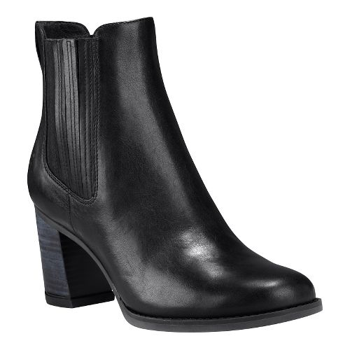 Womens Timberland Atlantic Heights Covered Gore Chelsea Casual Shoe - Black Full-Grain 6