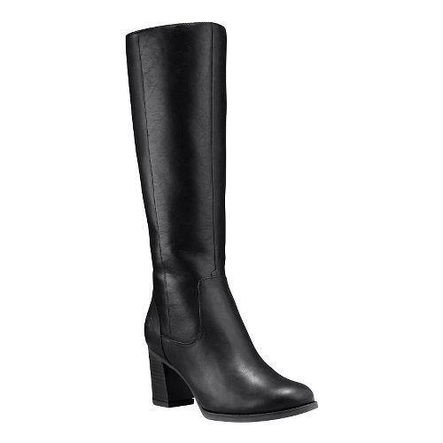 Womens Timberland Atlantic Heights Tall Waterproof Boot Casual Shoe - Black Full-Grain 9