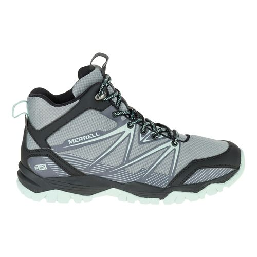 Womens Merrell Capra Rise Mid Waterproof Hiking Shoe - Monument 7