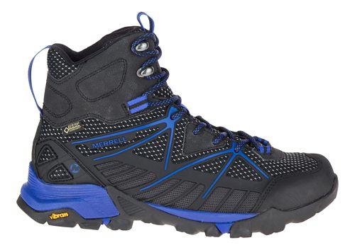 Womens Merrell Capra Venture Mid Gore-Tex Surround Hiking Shoe - Black 8.5