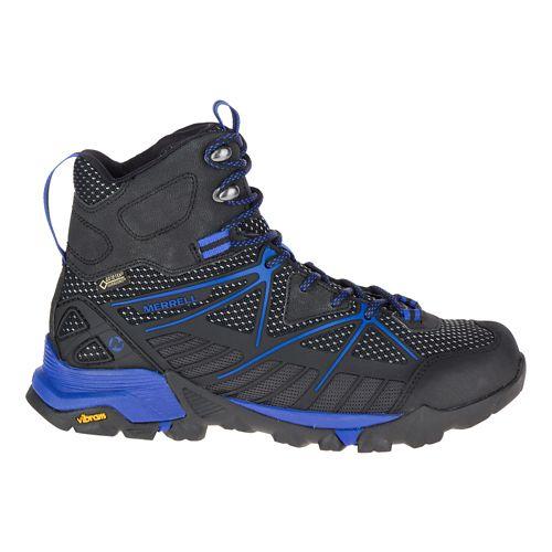 Womens Merrell Capra Venture Mid Gore-Tex Surround Hiking Shoe - Black 7.5