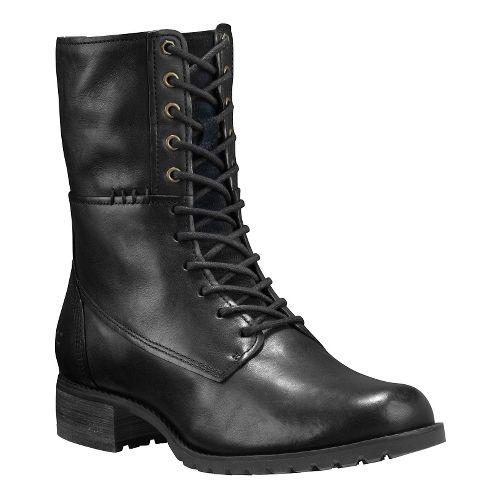 Womens Timberland Banfield Mid Lace Boot Casual Shoe - Black Full-Grain 9