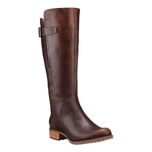 Womens Timberland Banfield Tall All Fit Waterproof Boot Casual Shoe - Dark Brown 8