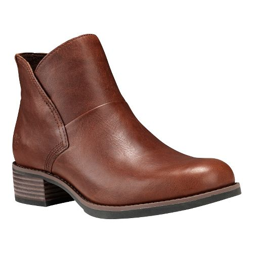 Womens Timberland Beckwith Side Zip Chelsea Casual Shoe - Medium Brown 8