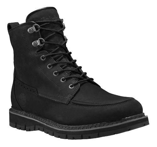 Mens Timberland Britton Hill Waterproof Moc Toe Boot Casual Shoe - Black Nubuck 11