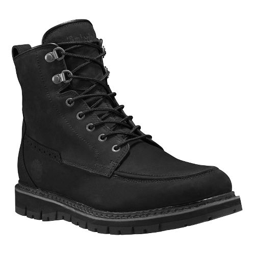 Mens Timberland Britton Hill Waterproof Moc Toe Boot Casual Shoe - Black Nubuck 10