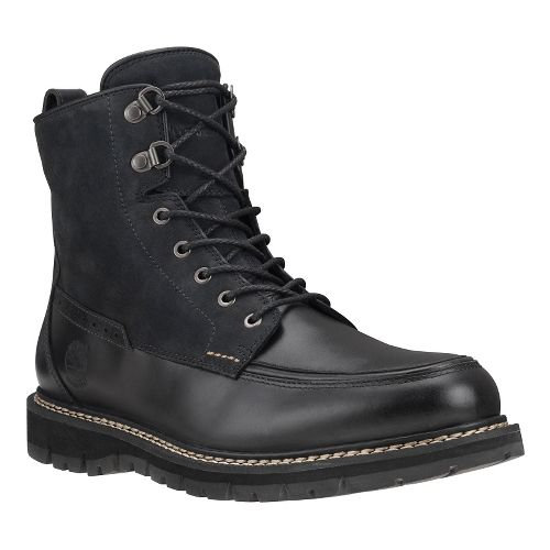 Mens Timberland Britton Hill Waterproof Moc Toe Boot Casual Shoe - Black Full Grain 8.5 ...