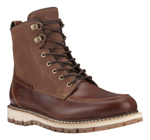 Mens Timberland Britton Hill Waterproof Moc Toe Boot Casual Shoe - Medium Brown/Nubuck 7