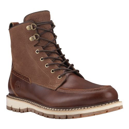 Mens Timberland Britton Hill Waterproof Moc Toe Boot Casual Shoe - Medium Brown/Nubuck 8.5