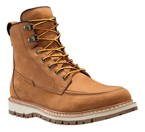 Mens Timberland Britton Hill Waterproof Moc Toe Boot Casual Shoe - Wheat Nubuck 13