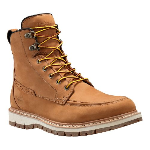 Mens Timberland Britton Hill Waterproof Moc Toe Boot Casual Shoe - Wheat Nubuck 7