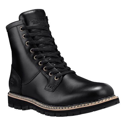 Mens Timberland Britton Hill Waterproof Plain Toe Boot Casual Shoe - Black Full Grain 8.5 ...