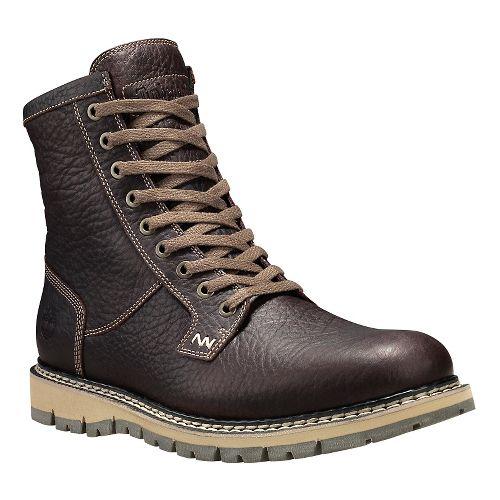 Mens Timberland Britton Hill Waterproof Plain Toe Boot Casual Shoe - Dark Brown 7.5
