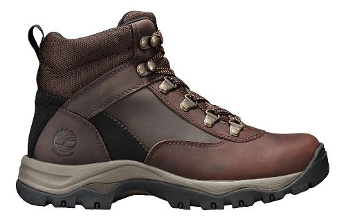 Womens Timberland Keele Ridge Waterproof Leather Mid Casual Shoe - Dark Brown Oiled 8