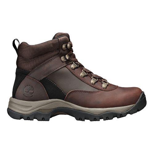 Womens Timberland Keele Ridge Waterproof Leather Mid Casual Shoe - Dark Brown Oiled 9