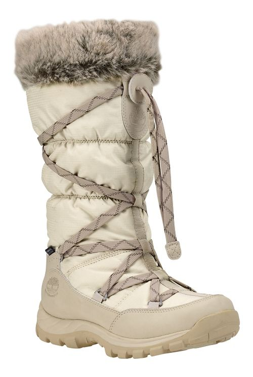 Womens Timberland Over the Chill Waterproof Insulated Casual Shoe - Winter White 8