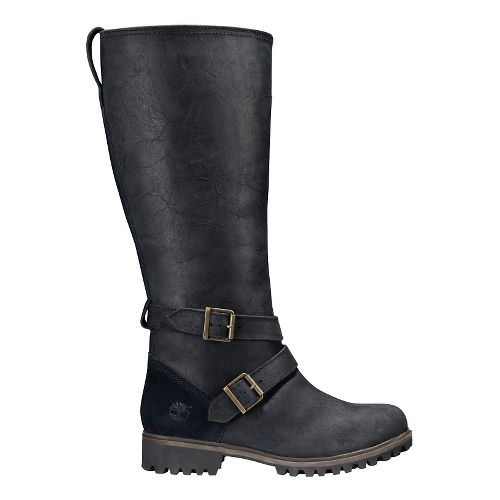 Womens Timberland Wheelwright Tall All Fit Waterproof Boot Casual Shoe - Black 6