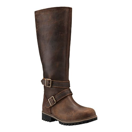 Womens Timberland Wheelwright Tall All Fit Waterproof Boot Casual Shoe - Dark Brown 8