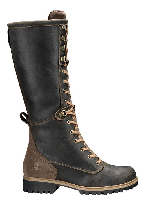 Womens Timberland Wheelwright Tall Lace Waterproof Boot Casual Shoe - Dark Brown 6