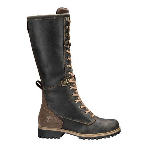 Womens Timberland Wheelwright Tall Lace Waterproof Boot Casual Shoe - Dark Brown 6