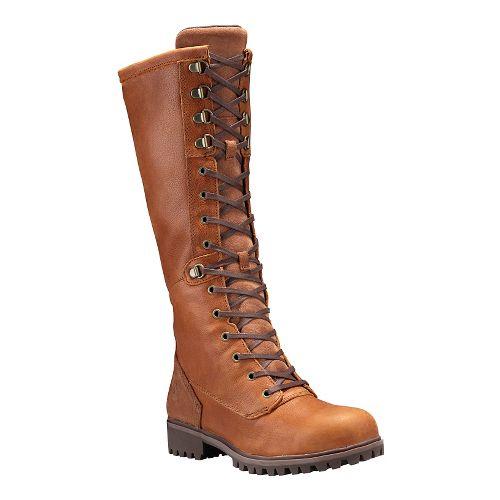 Womens Timberland Wheelwright Tall Lace Waterproof Boot Casual Shoe - Burnt Orange 11
