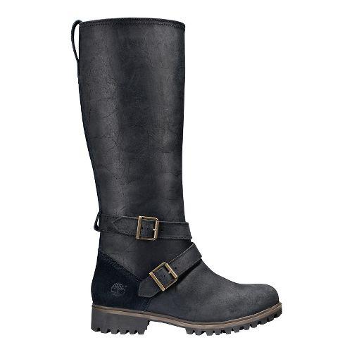 Womens Timberland Wheelwright Tall Medium Shaft Waterproof Boot Casual Shoe - Black 9