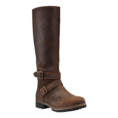 Womens Timberland Wheelwright Tall Medium Shaft Waterproof Boot Casual Shoe - Dark Brown 9